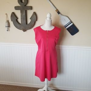 New York and Company Pink skater dress with pocket